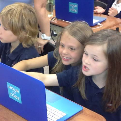 Learning Code workshop at St. Joachim sparks students' imaginations
