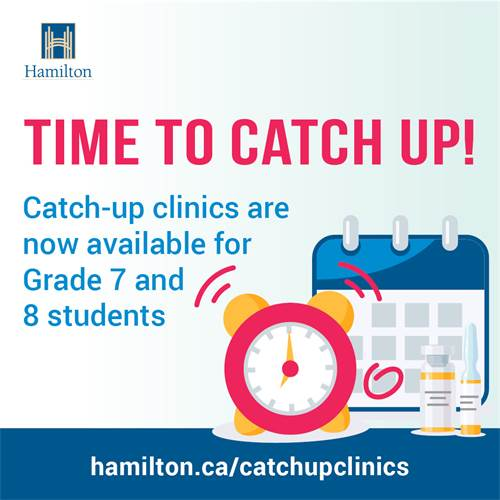 Vaccine Catch-up Clinics for Grade 7 & 8 Students